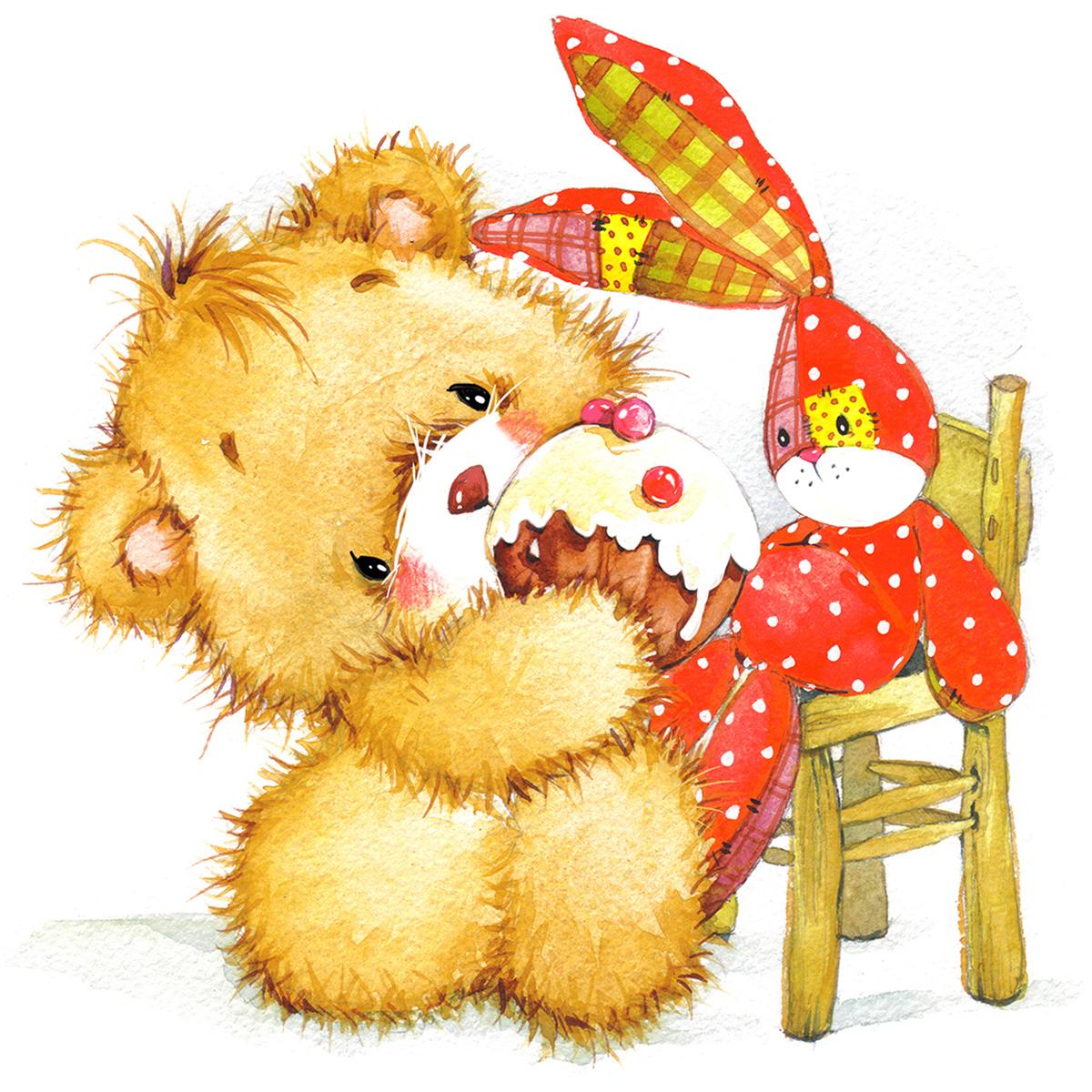 самый красивые открытки медвежата договорились встретиться одном