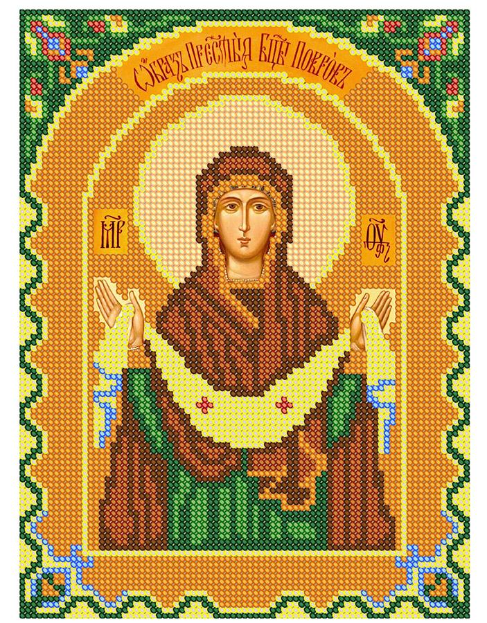 фото вышитых крестом иконы покрова