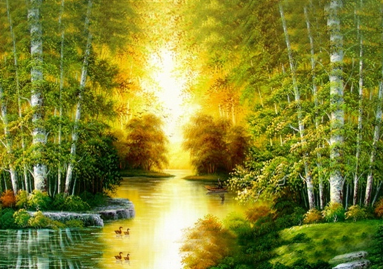 Река в лесу Алмазная вышивка СК-648(П), цена 1 832 руб. - интернет-магазин Мадам Брошкина